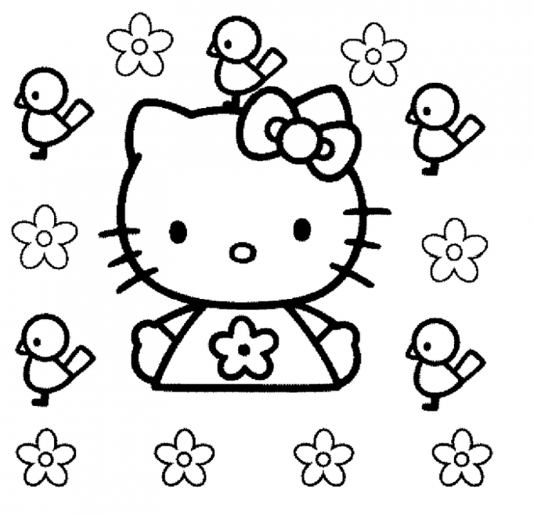 Hello Kitty Ostern - AZ Ausmalbilder