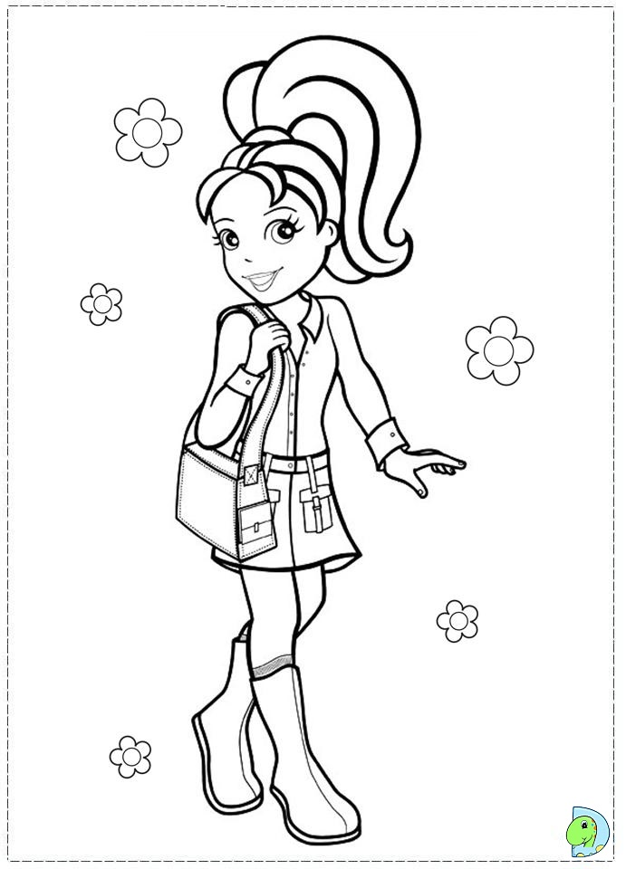 Polly Pocket Coloring page- DinoKids.