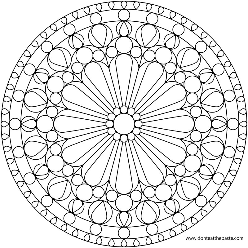 Don't Eat the Paste: Rose Windows- Mandala Coloring Pages