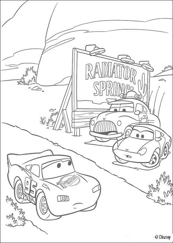 Cars coloring pages - Lightning Mc Queen racing