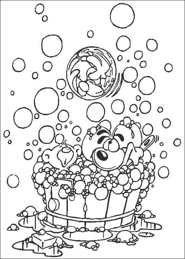 DIDDL coloring pages - Diddl having a bath