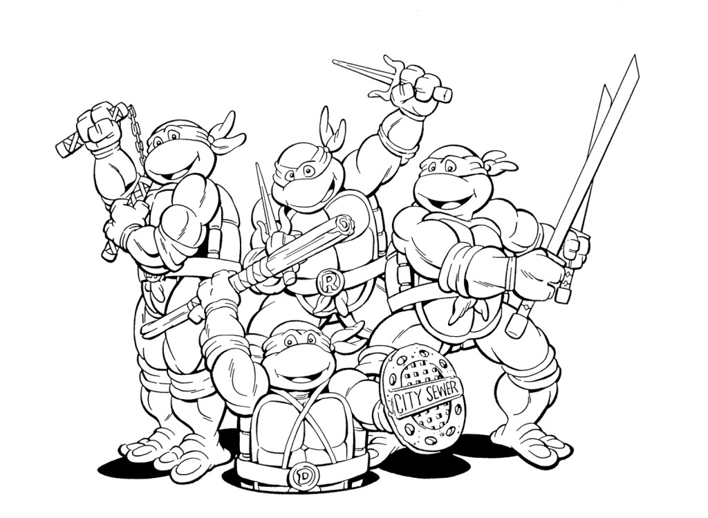 Ninja Turtle Coloring Pages - Coloring For KidsColoring For Kids