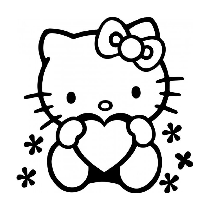 Hello Kitty Wandbilder - AZ Ausmalbilder