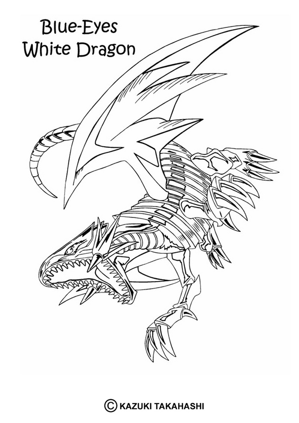 YU-GI-OH coloring pages - White Dragon 4