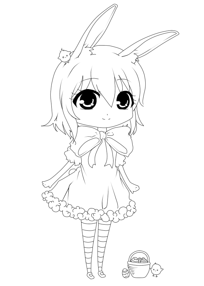 Happy Easter - Line art by Silviiaa on deviantART