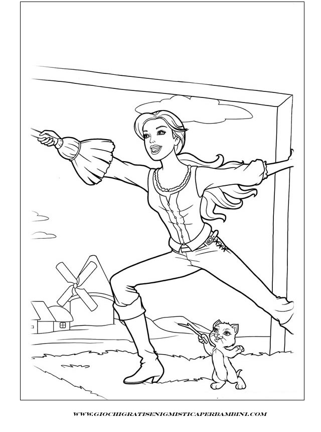 musketeers barbie Colouring Pages