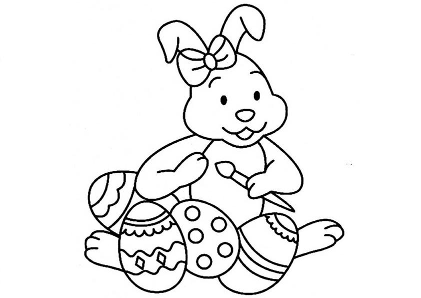 Ostern Kinder - AZ Ausmalbilder
