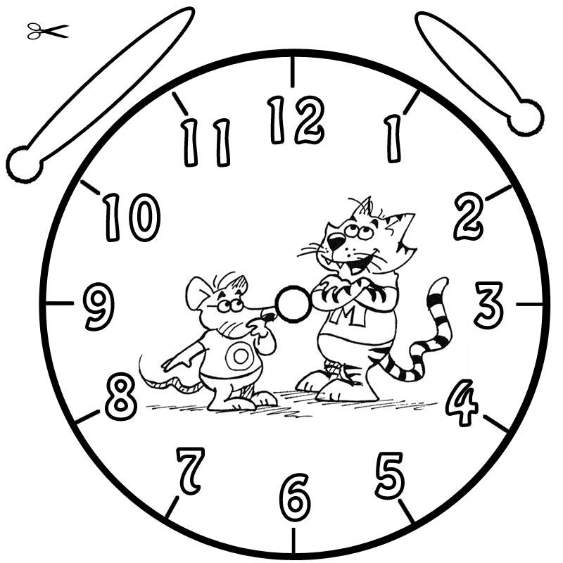 Uhren Basteln - AZ Ausmalbilder