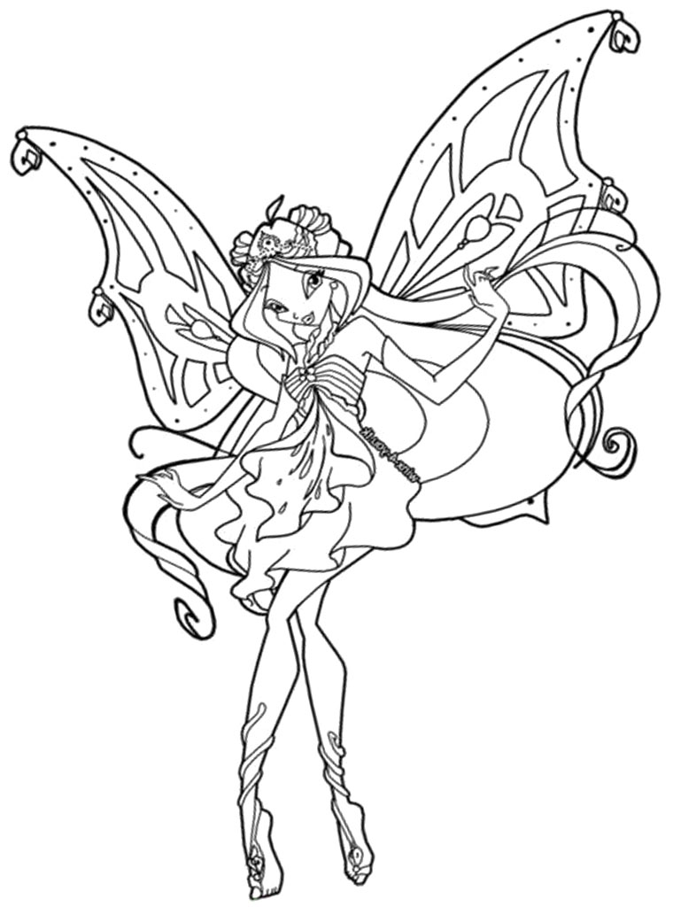 mermaidix winx club Colouring Pages