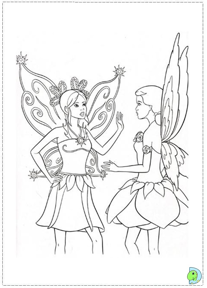 Barbie Fairytopia coloring page - DinoKids.