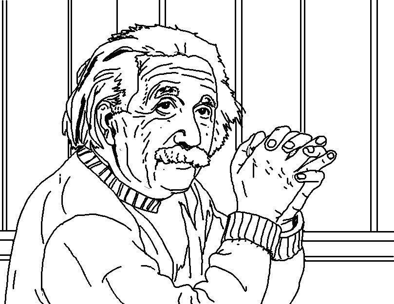 Albert Einstein Coloring Pages | download free printable coloring