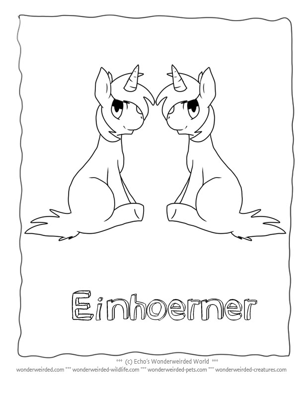 Unicorn Coloring Page for Kids, Echo's Free Unicorn Coloring Pictures