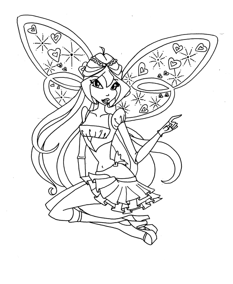 winx club beliveix Colouring Pages