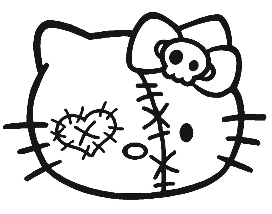 Hello Kitty Window Color - AZ Ausmalbilder