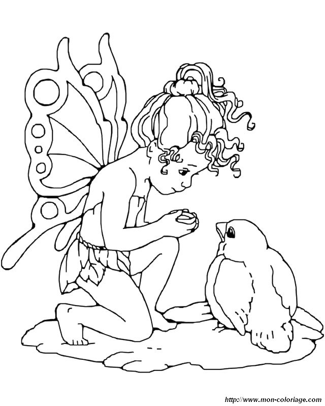 ist fairy Colouring Pages