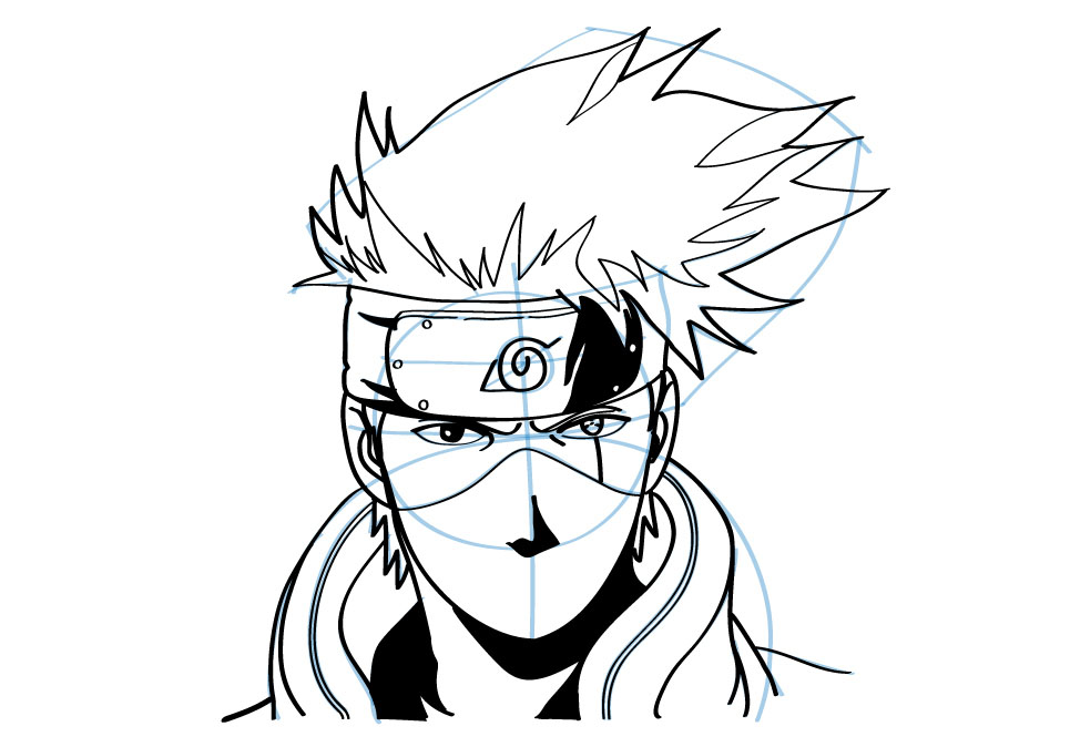 How to draw Kakashi from Naruto. | how to draw manga 3d