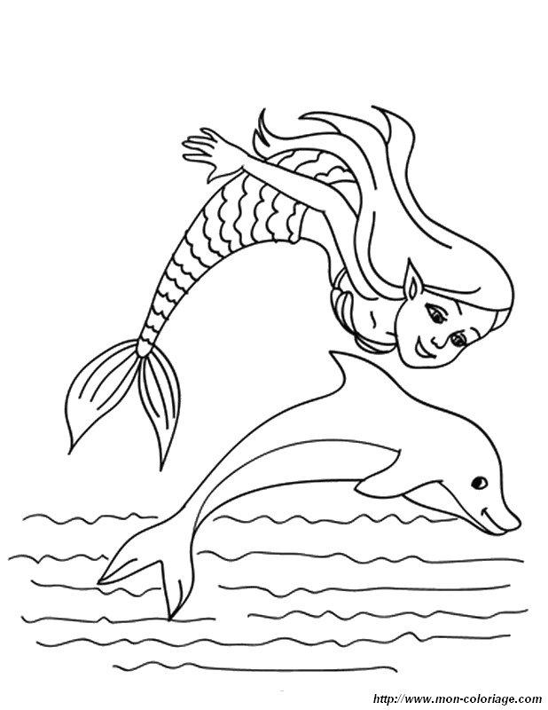 Malvorlagen Delfin Bild Meerjungfrau Az Ausmalbilder