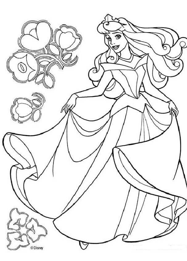 Dornröschen Zum Ausmalen Prinzessin Aurora Tanzt Az Ausmalbilder