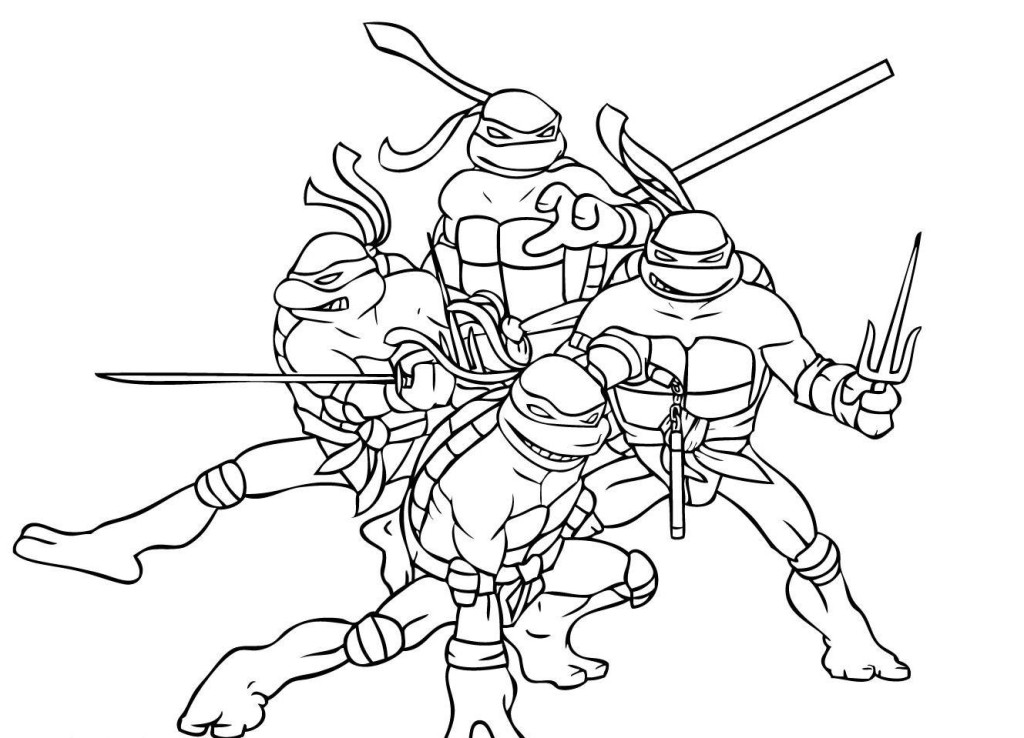 Ninja Turtle Coloring Pages - AZ Coloring Pages