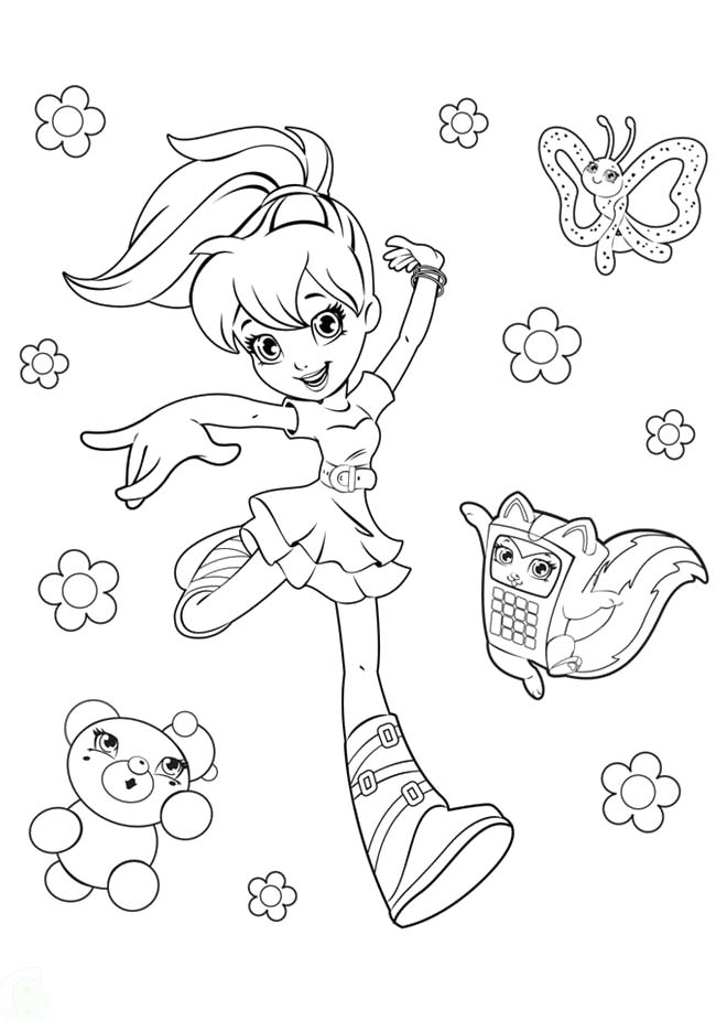 Polly Pocket Coloring Pages Free - AZ Coloring Pages