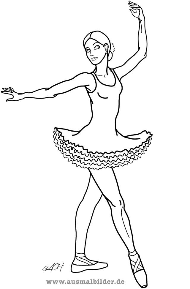 Ballerina Bilder Az Ausmalbilder