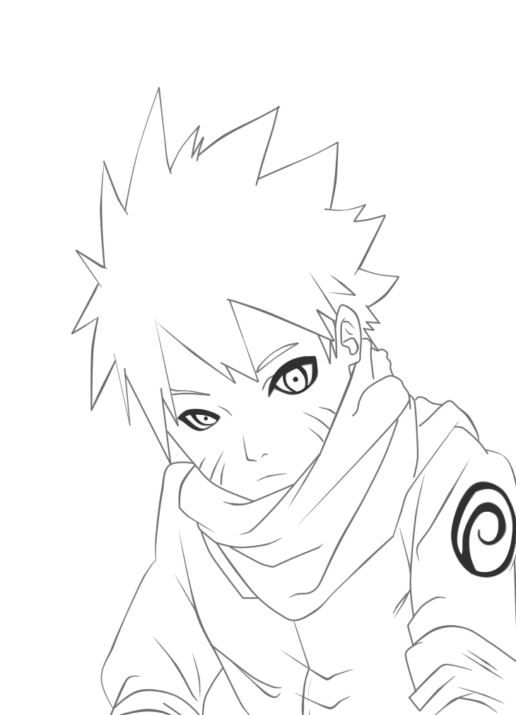 Naruto Line art by EternaJehuty on deviantART