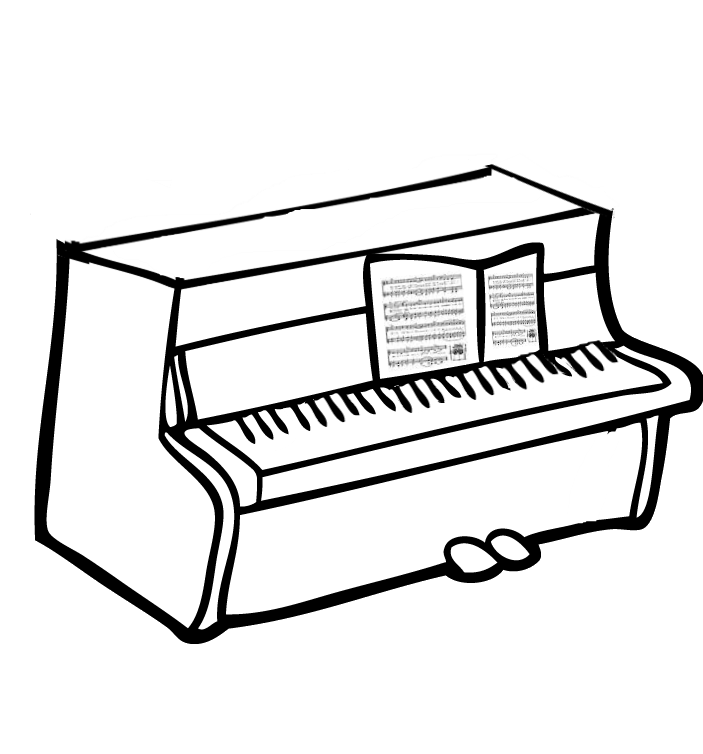 piano keyboard chart coloring pages