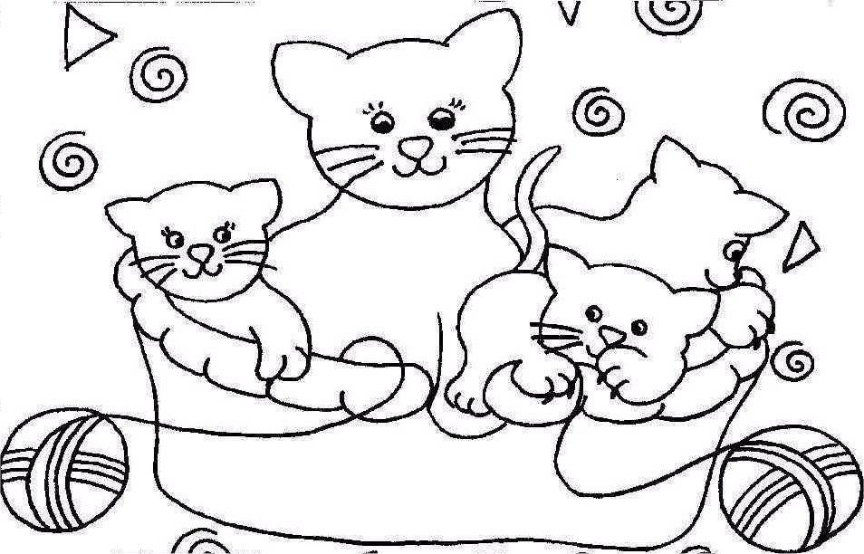 Ausmalbilder Katzen Az Ausmalbilder