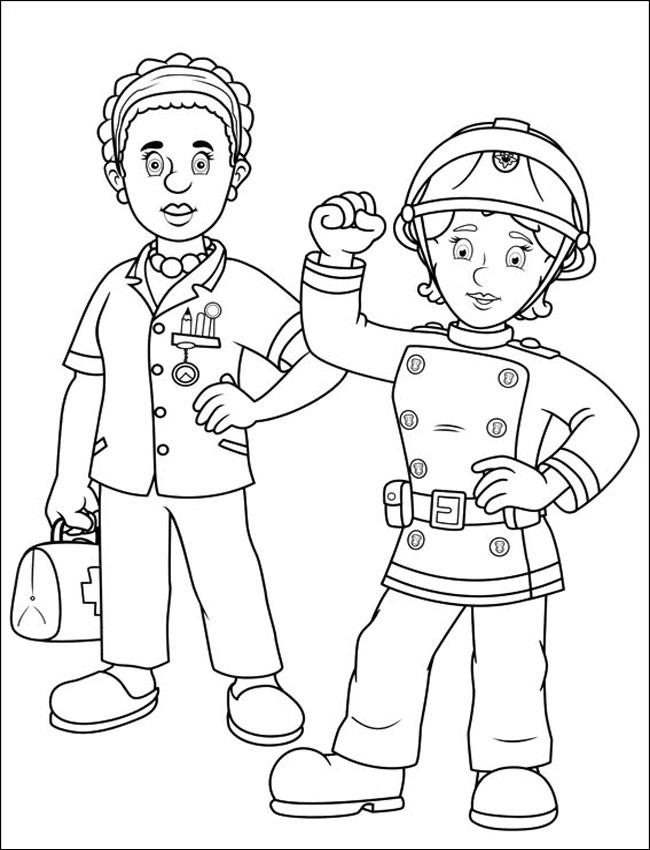 Feuerwehrmann Sam Serie Az Ausmalbilder