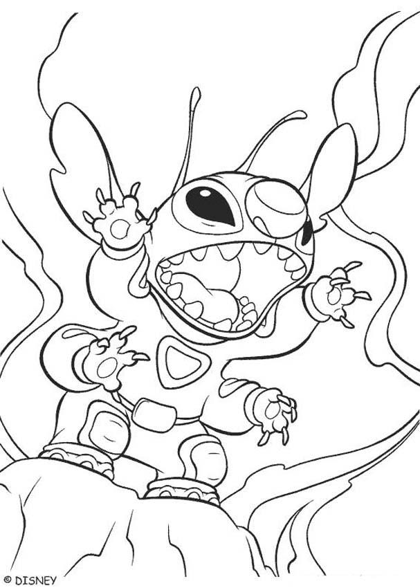 Lilo and Stitch coloring pages - Stitch the little blue alian