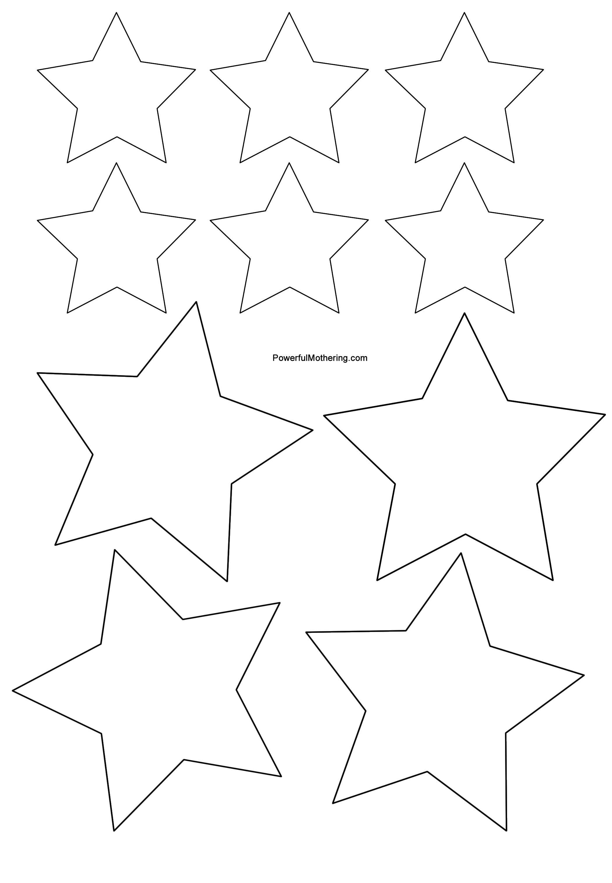 Stern Vorlage Ausschneiden - AZ Ausmalbilder