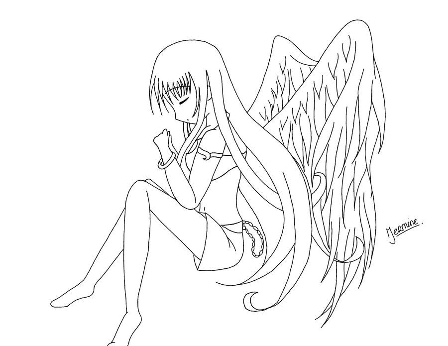 Anime Girl Coloring Pages - Coloring For KidsColoring For Kids
