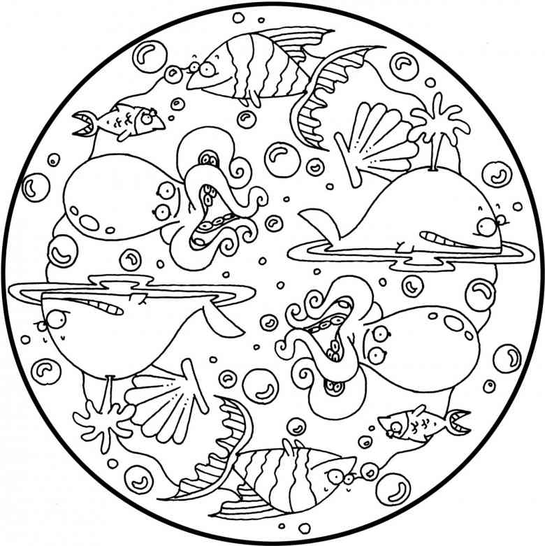 Tier Mandala - AZ Ausmalbilder