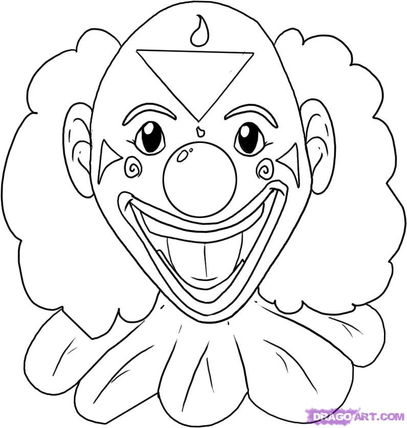 How to Draw a Clown, Step by Step, Faces, People, FREE Online