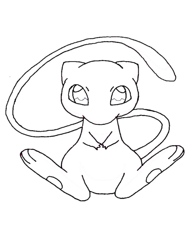 Mew Pokemon Coloring Pages - AZ Coloring Pages