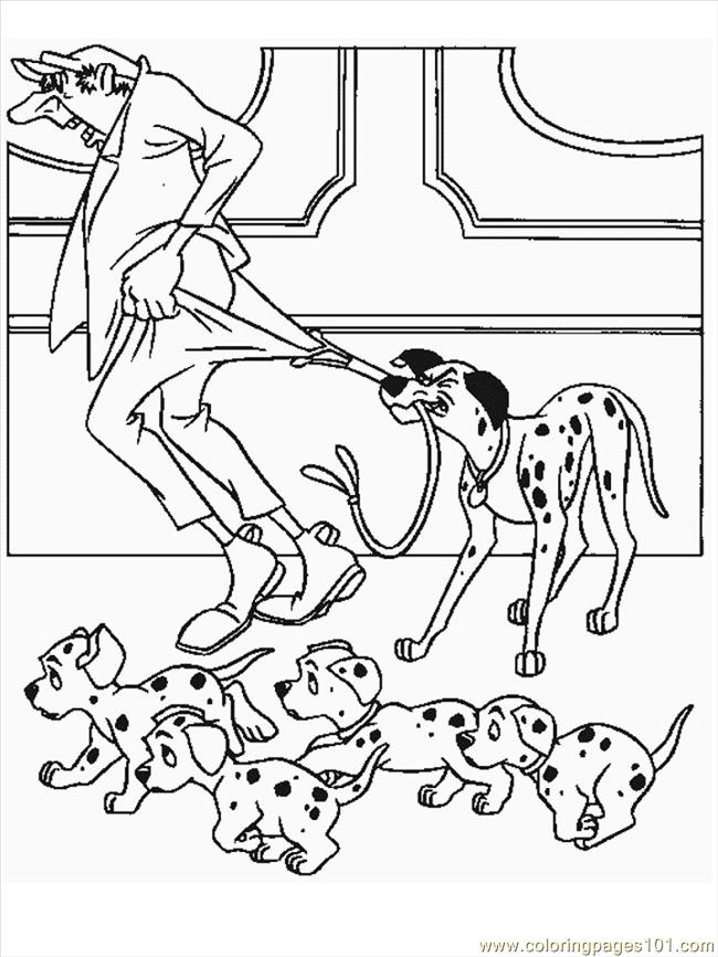 102 dalmations Colouring Pages (page 3)