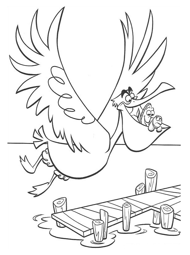 Finding Nemo Coloring Pages Free 385 | Free Printable Coloring Pages