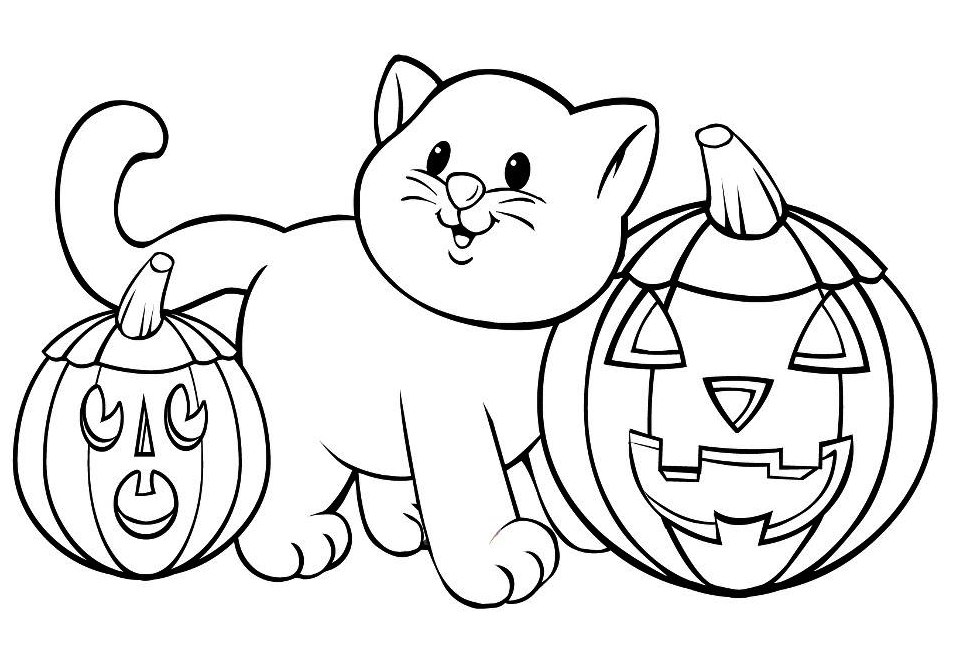 Halloween Coloring Pages Free | Free Internet Pictures