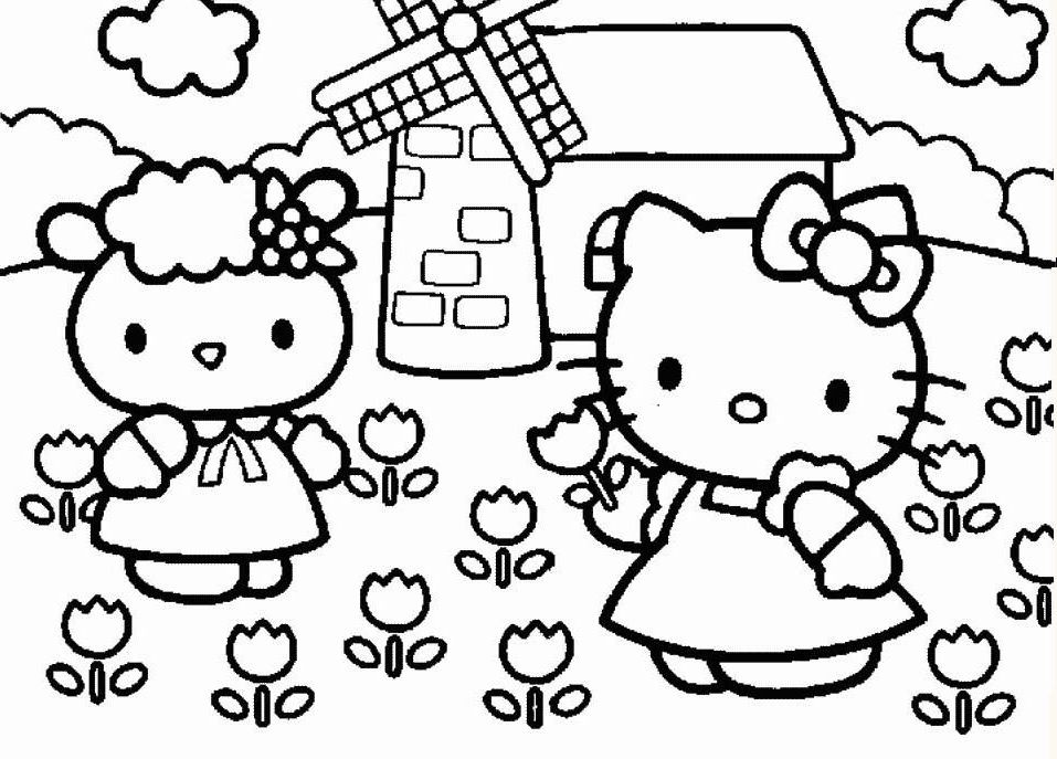 Hello Kitty - Ausmalbilder