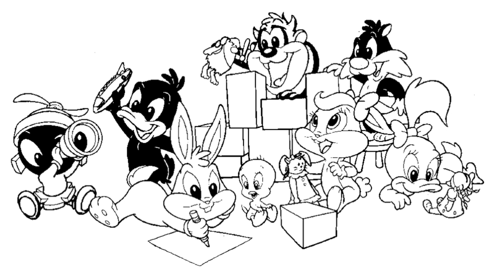 Baby Looney Tunes Coloring Pages - Free Printable Coloring Pages