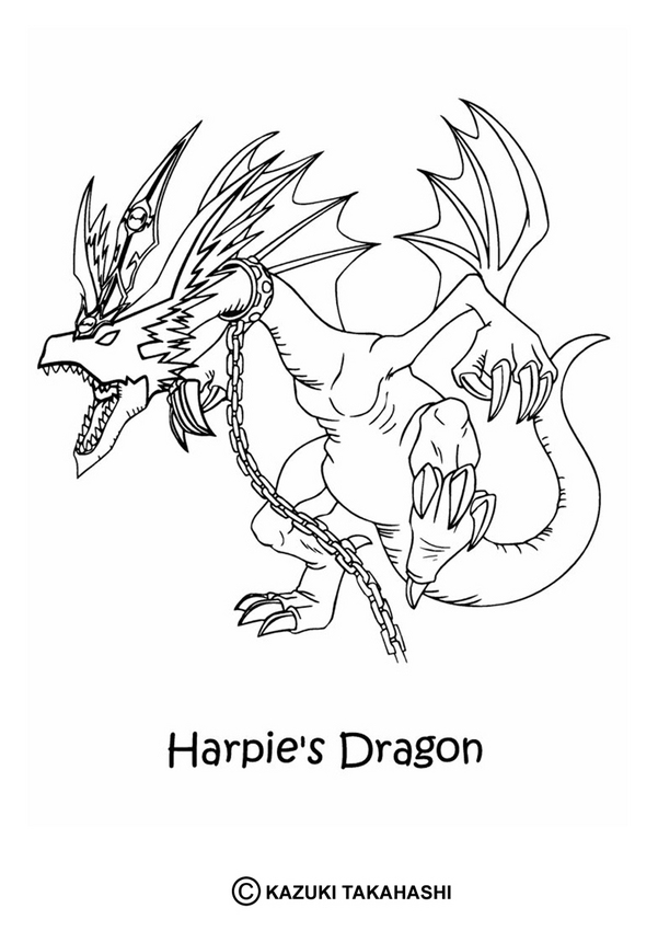 YU-GI-OH coloring pages - Ultimate Dragon