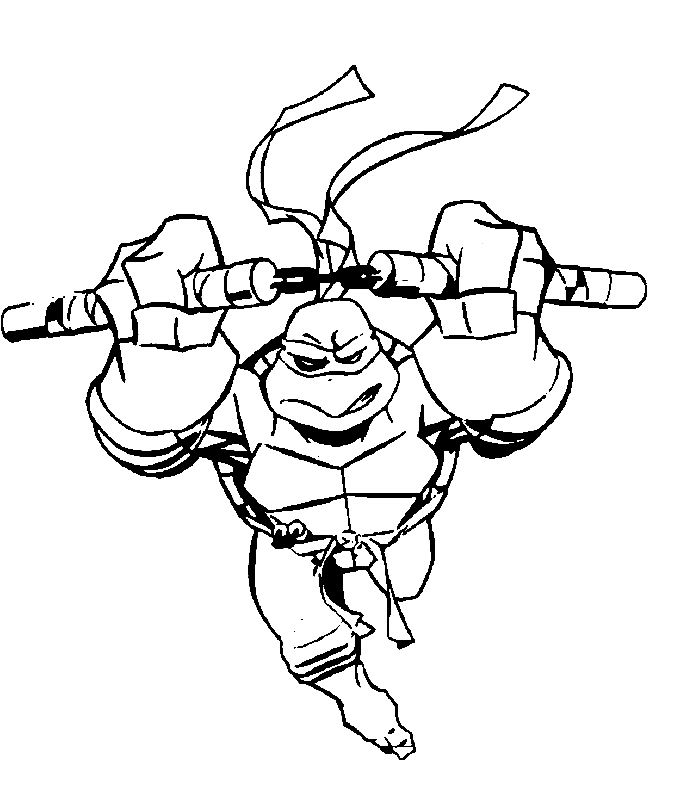Free Coloring Pages Ninja Turtles