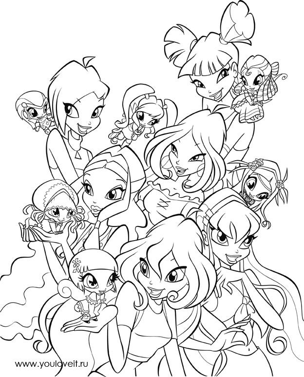 winx pixies Colouring Pages (page 3)