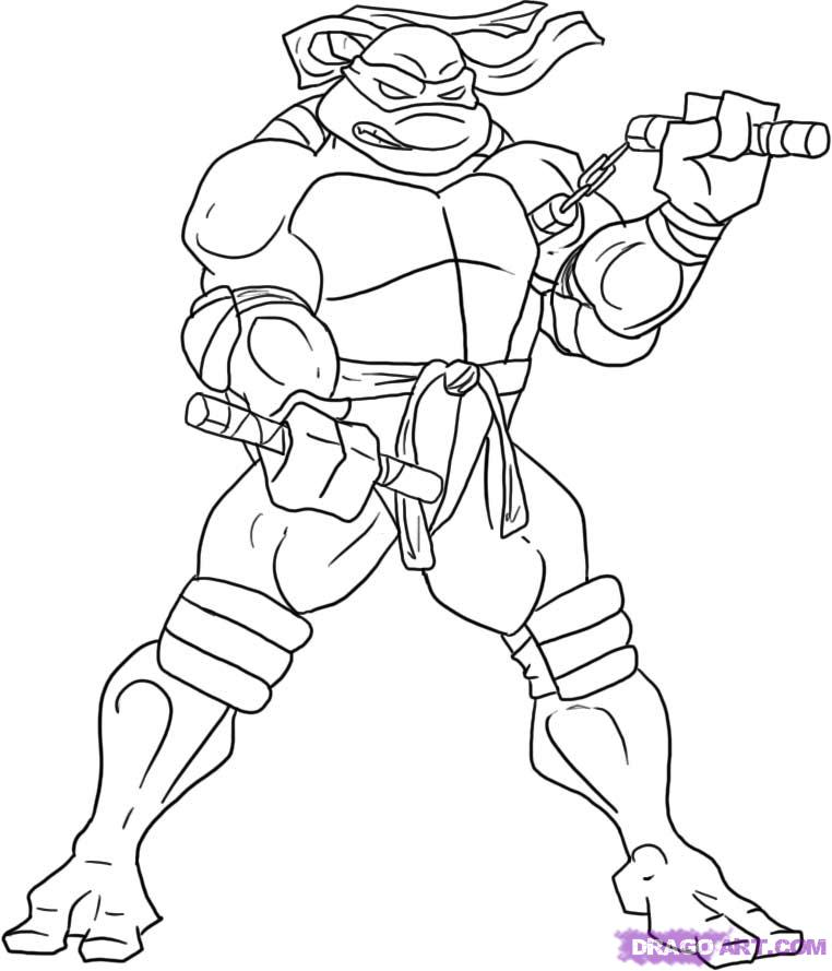 How to Draw Michelangelo from the TMNT, Step by Step, Characters