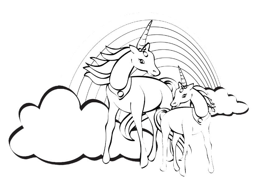 Tiere Pferde - AZ Ausmalbilder