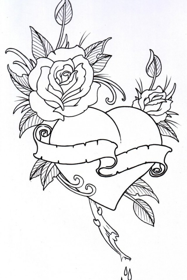 Rose Tabs Tattoo Pictures To Pin On Pinterest - AZ Ausmalbilder