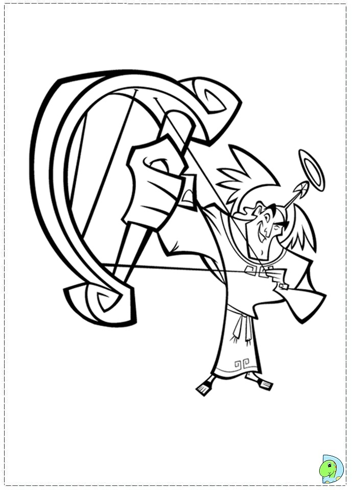 kuzko Colouring Pages