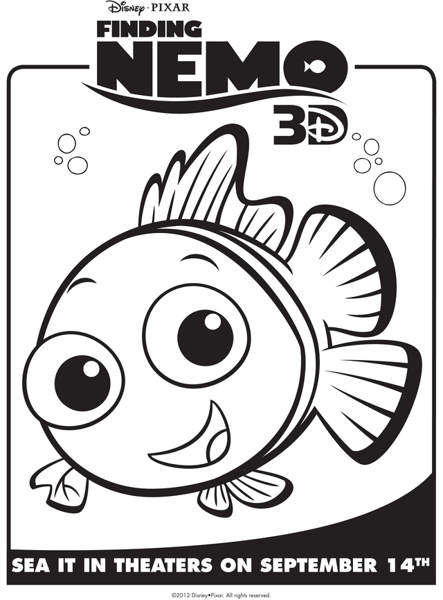 Finding Nemo - Free Printable Coloring Pages