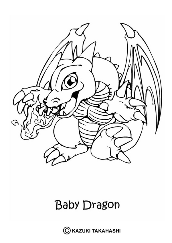YU-GI-OH coloring pages - Baby dragon Fantasy