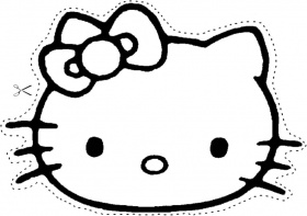 malvorlage hello kitty kopf